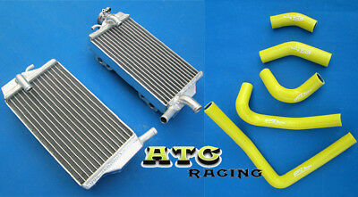 L&R Aluminum Radiator & yellow hose for Honda CR250 CR250R 02 03 04 2002-2004