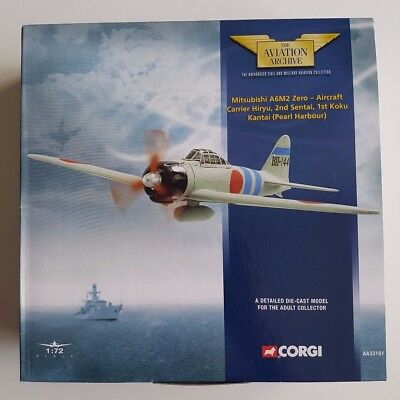 Aviation Archive 1:72 AA33101 Mitsubishi A6M2 Zero Carrier Hiryu Pearl Harbour