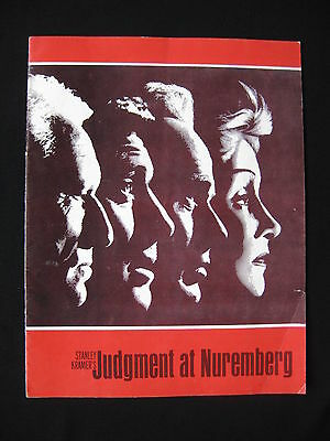 JUDGMENT AT NUREMBERG 1961 Rare movie programme Spencer Tracy Marlene Dietrich