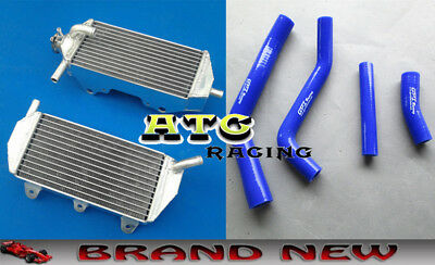 For 2010-2013 YAMAHA YZF450 YZ450F 10 11 12 ALUMINUM RADIATOR & BLUE HOSE