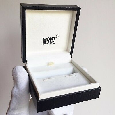 Scatola MONTBLANC box case custodia gemelli cufflinks orecchini earrings black