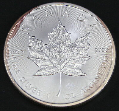2015 1 oz Canadian Silver Maple Leaf Coin 9999 AG (Toned)
