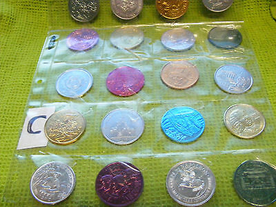Lot of 20 Genuine New Orleans Mardi Gras Doubloons,years 1969, 70s,80s,etc.(C)