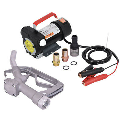 12V 10GPM Electric Diesel Oil And Fuel Transfer Extractor Pump w/ Nozzle & Hose