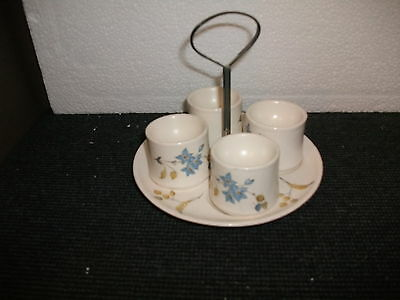 sylvac avon lime grove 4 egg cups and stand (4182)