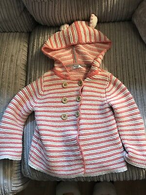 Boden Baby Girl Knitted Cardigan 12-18 Months