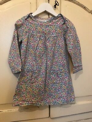 Baby Boden Floral Jersey Dress 18-24 Months Green Blue Yellow Pastel Pink