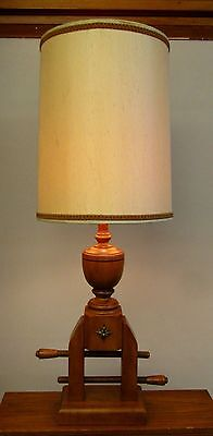 """Vintage """"Tell City"""" Maple Carpenter Clamp Style Table Lamp (Without Shade)"""