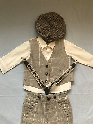 Baby Boys 3-6 Months NEXT Suit Wedding Christening Outfit Hat Shoes