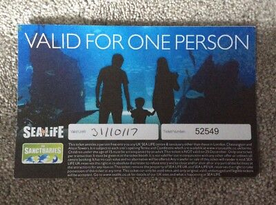 Sea Life Centre Ticket - Valid For One