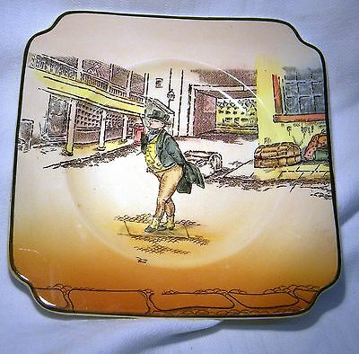 """Royal Doulton Dickens Series Ware 6"""" Square Plate   Mr Pickwick"""