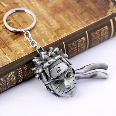 Naruto Uzumaki Metal Keychain Key Ring Cosplay Key Chain Unisex Charm
