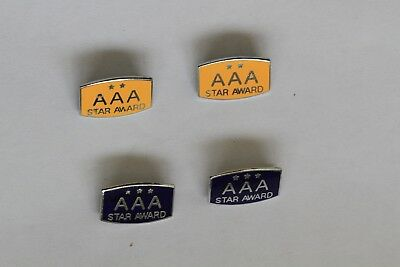 AAA Two and Three Star Award Lapel Badges, VGC.