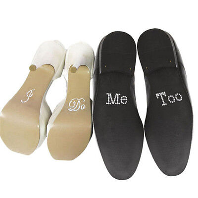I Do & Me Too Set Wedding Bridal and Groom Shoes Sticker Wedding Decal *T