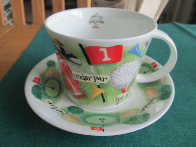 Golf Hole In One Large Cup & Saucer By Roy Kirkham