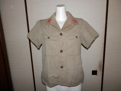 WW2 Japanese Army Battle clothes of short sleeves for summer.1942 Very Good.2-1