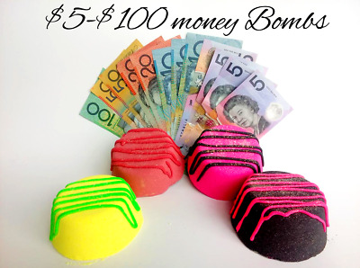 Money Bath bombs / Fizzzbathbombs $5-$100 in each