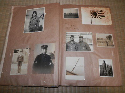 WW2 Japanese Picture album of a navy flying corps pilot. 262 Photos.Very Good.