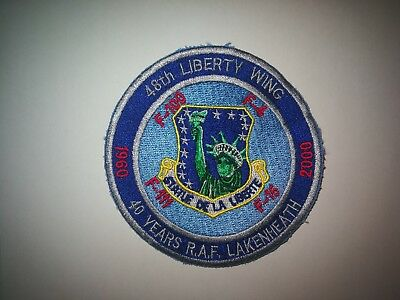 RAF Lakenheath 48thFW USAF Liberty Wing 40 years patch
