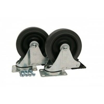 Rubbermaid Mega Brute Replacement Wheel / Caster Kit 12.7cm / 5 Inch x 2 - Gray