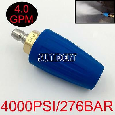 Blue 4.0 GPM Washer Turbo Head Nozzle for High Pressure Water Cleaner 4000PSI