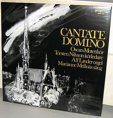 PROPRIUS LP PROP-7762: CANTATE DOMINO - Various Artists - OOP 2002 SWEDEN As NEW