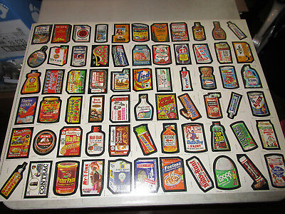 Vintage Topps 1979 Wacky Packages Uncut Sticker Sheet--66 Stickers