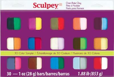 Sculpey III  S3 30-1  oven bake extra fine coloured clays -LOWEST  COST UK, FIMO