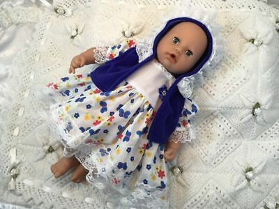 """HANNAHS BOUTIQUE BABY DOLLS CLOTHES OUTFIT TO FIT 17-19"""" PLAY DOLLS FREE p&p"""