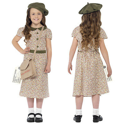 Smiffy's Girl WW2 Historical Costume 1940s World Book Day Fancy Dress Outfit