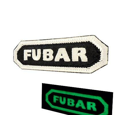 FUBAR glow dark military ISAF morale tactical infidel parche sew iron on patch