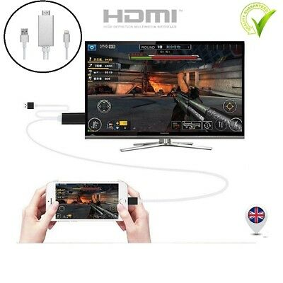 Lightening to HDMI HDTV TV Adapter Cable for Apple iPad Mini4 3 Air 2 Pro Black
