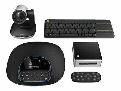 NEW! Logitech Group Kit NUC/GRO/UK/2 Video Conferencing Kit With Intel Nuc Kit N