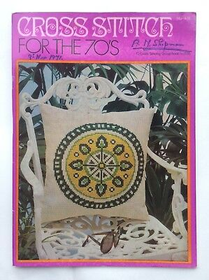Vintage Coates Sewing Booklet  Cross Stitch For The 70's
