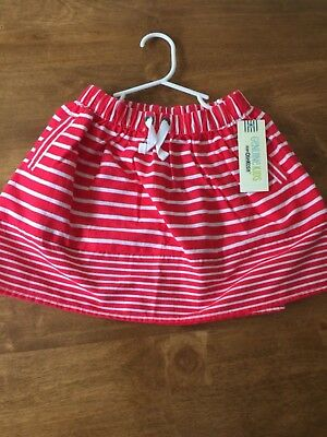 Genuine Kids by Osh Kosh Girl's Skirt, Red and White, Size 6T