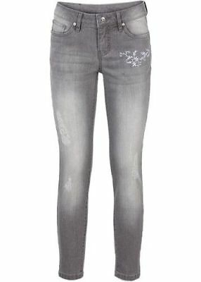 S8°5763 Modische Strech Jeans In Light Grey Denim Gr. 54 Neu