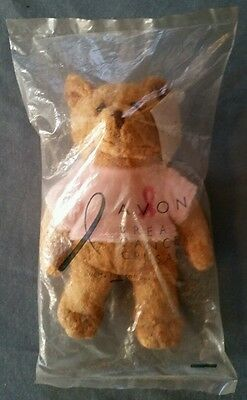 Avon 2001 Breast Cancer Crusade Awareness Beanie Plush Teddy Bear-FREE SHIP-NEW!