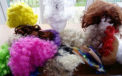 #2 Job Lot of mixed Synthetic Wigs Various Lengths Styles and Sizes Fancy Dress*
