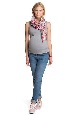 NEW Esprit Maternity basic cotton tank WASHED CARBON