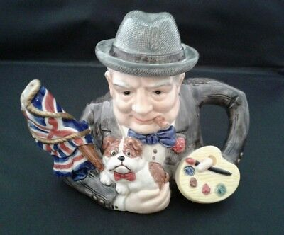 1995 Fitz and Floyd WINSTON CHURCHILL Teapot~ Limited Edition Collectors Series