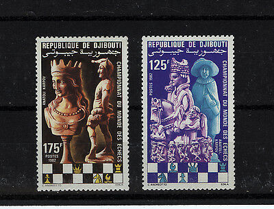 1982 Djibouti Chess Championships UM Nice Thematic Stamps