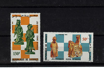 1981 Djibouti Chess Pieces Set UM Nice Thematic Stamps