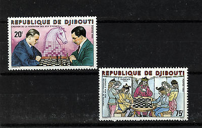 1980 Djibouti Chess Stamps set UM Nice Thematic Stamps