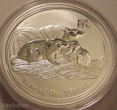 2008 AUSTRALIAN LUNAR YEAR OF THE MOUSE (RAT) 1 oz. SILVER COIN *BU*