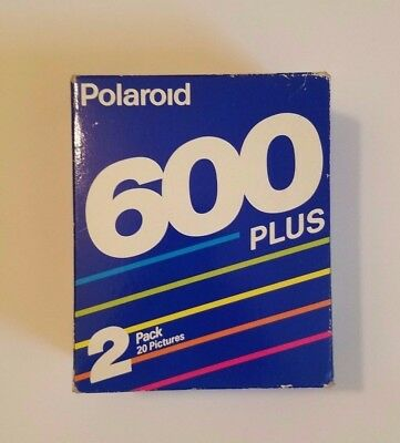 Vintage Polaroid 600 Plus 2 Pack Film Sealed Unopened 20 Pictures