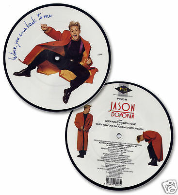 """JASON DONOVAN When You Come Back UK 7"""" picture disc NEW/UNPLAYED"""