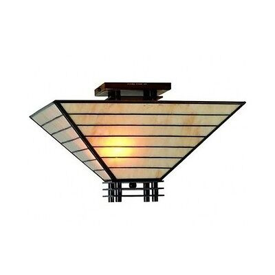 Semi Flush Mount Ceiling Light Stained Glass Hall Small Entryway Light Fixture