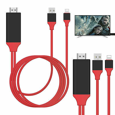 8 Pin Lightning to HDMI TV Adapter Cable for iPhone 8 7 6S 6 Plus 5S SE X iPad