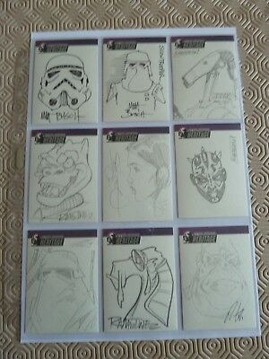 Star Wars topps sketch cards super rare mint condition afa New home