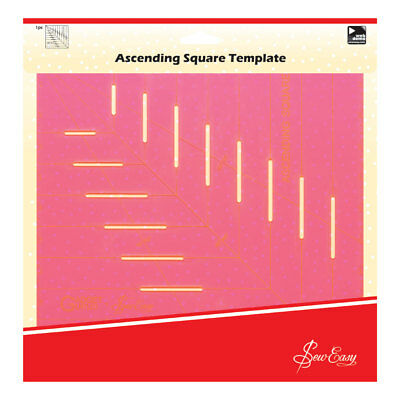 Sew Easy ERGG10.PNK   Pink Ascesending Square Template   25cm (10in)
